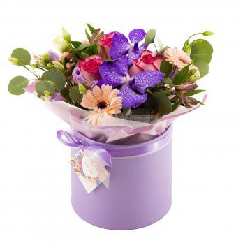 """Коробка с орхидеей """"Ванда"""""""